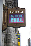 "Theatre Marquee unveiling for ""Be More Chill"" on January 17, 2019 at the Lyceum Theatre in New York City."
