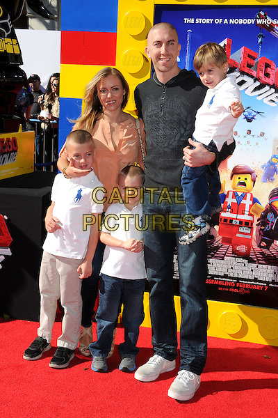 1 February 2014 - Westwood, California - Steve Blake. &quot;The Lego Movie&quot; Los Angeles Premiere held at the Regency Village Theater.  <br /> CAP/ADM/BP<br /> &copy;Byron Purvis/AdMedia/Capital Pictures