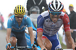 Thibaut Pinot (FRA) Groupama-FDJ and Mikel Landa (ESP) Movistar Team climb Prat d'Albis in 2nd and 3rd places during Stage 15 of the 2019 Tour de France running 185km from Limoux to Foix Prat d'Albis, France. 20th July 2019.<br /> Picture: Colin Flockton | Cyclefile<br /> All photos usage must carry mandatory copyright credit (© Cyclefile | Colin Flockton)