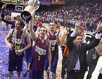 16.06.2012. Barcelona. Fina Liga Endesa , 5 Partido. El FC Barcelona se proclama campeon de liga tras vencer 81-80 en el 5º partido en el Palau Blaugrana