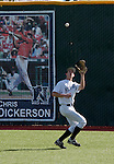 March 10, 2012:   Nevada Wolf Pack center fielder Brooks Klein makes the catch against the  UC Santa Barbara Gauchos during  their NCAA baseball game played at Peccole Park on Saturday afternoon in Reno, Nevada.