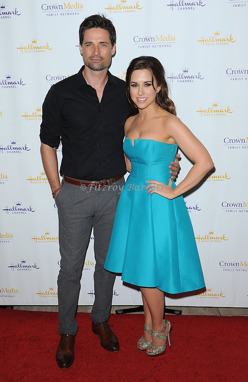 Warren Christie and Lacey Chabert arriving at Hallmark Movie Channel Presents 'The Color Of Rain' held at the Paley Center For Media Beverly Hills, CA. May 28, 2014.
