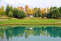 17th green, European Challenge Tour, Kazakhstan Open 2014, Zhailjau Golf Club, Almaty, Kazakhstan. (Picture Credit / Phil Inglis)