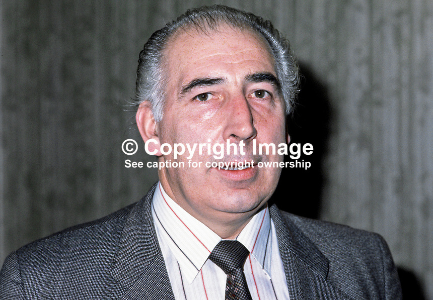 Edward Turner, Ulster Unionist, councillor, Strabane District Council, N Ireland, UK. 198010000318.<br />