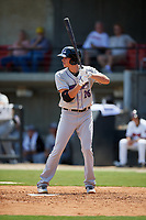 Winston-Salem Dash Craig Dedelow (26) at bat during a Carolina League game against the Carolina Mudcats on August 14, 2019 at Five County Stadium in Zebulon, North Carolina.  Winston-Salem defeated Carolina 4-2.  (Mike Janes/Four Seam Images)