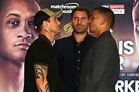 Ricky Burns (L) and Lee Selby during a Press Conference at the Park Plaza on 9th September 2019