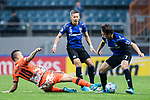 Jeju United Forward Marcelo Toscano (L) fights for the ball with Gamba Osaka Midfielder Endo Yasuhito (R) during the AFC Champions League 2017 Group H match Between Jeju United FC (KOR) vs Gamba Osaka (JPN) at the Jeju World Cup Stadium on 09 May 2017 in Jeju, South Korea. Photo by Marcio Rodrigo Machado / Power Sport Images