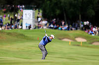 Thomas Aiken (RSA) on the 13th during round 3 of the 2016 BMW PGA Championship. Wentworth Golf Club, Virginia Water, Surrey, UK. 28/05/2016.<br /> Picture Fran Caffrey / Golffile.ie<br /> <br /> All photo usage must carry mandatory copyright credit (© Golffile   Fran Caffrey)