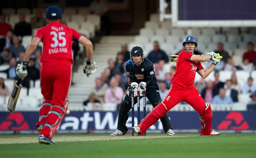 England's Luke Wright in action during today's game against New Zealand at the Kia Oval<br /> <br />  (Photo by Ashley Western/CameraSport) <br /> <br /> International Cricket - NatWest International T20 Series - England v New  Zealand - Tuesday 25th June 2013 - The Kia Oval, London <br /> <br />  &copy; CameraSport - 43 Linden Ave. Countesthorpe. Leicester. England. LE8 5PG - Tel: +44 (0) 116 277 4147 - admin@camerasport.com - www.camerasport.com