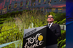 Philippe Close, Bourgmestre de Bruxelles, speaks at the Tour de France 2019 route presentation held at Palais de Congress, Paris, France. 25th October 2018.<br />