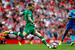 Liverpool's Loris Karius in action during the premier league match at Anfield Stadium, Liverpool. Picture date 27th August 2017. Picture credit should read: Paul Thomas/Sportimage