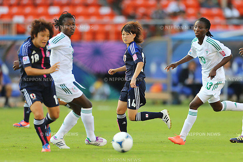 (L to R)Asuka Nishikawa (JPN),  Hanae Shibata (JPN), .SEPTEMBER 8, 2012 - Football / Soccer : .FIFA U-20 Women's World Cup Japan 2012, 3rd place Match .match between Japan 2-1 Nigeria .at National Stadium, Tokyo, Japan. .(Photo by Daiju Kitamura/AFLO SPORT) [1045]