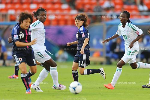 (L to R)Asuka Nishikawa (JPN),  Hanae Shibata (JPN), .SEPTEMBER 8, 2012 - Football / Soccer : .FIFA U-20 Women's World Cup Japan 2012, 3rd place Match .match between Japan 2-1 Nigeria .at National Stadium, Tokyo, Japan. .(Photo by Daiju Kitamura/AFLO SPORT) [1045]