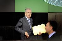 Roma, 29 Dicembre 2011.Conferenza Stampa di fine anno del Primo Ministro Mario Monti.Rome,Italy, December 29, 2011...Year-end Press Conference by  italian Prime Minister Mario Monti