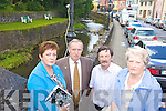 NO ANSWERS: Residents of Newcastle West who say they are still waiting for answers one year after the serious flooding which affected the town, l-r: Bernie Doyle, Pat O'Donovan, Ger O'Loughlin, Una Hartnett.
