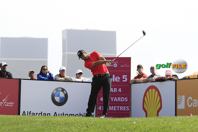 Carlos Del Moral (ESP) tees off on the 5th tee during Saturday's Round 2 of the 2012 Commercialbank Qatar Masters presented by Dolphin Energy at Doha Golf Club, Qatar, 4th February 2012 (Photo Eoin Clarke/www.golffile.ie)