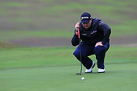 Shane Lowry (IRL) on the 1st green during Round 4 of the Sky Sports British Masters at Walton Heath Golf Club in Tadworth, Surrey, England on Sunday 14th Oct 2018.<br /> Picture:  Thos Caffrey | Golffile