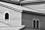 Angles of walls and roof tiling