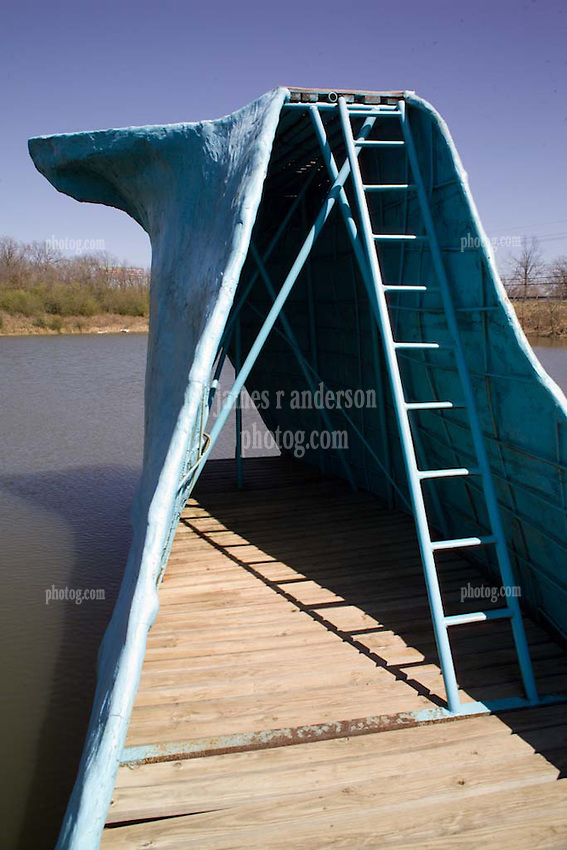 The Blue Whale. Relic of the Later Days of Roadside Attractions along Old US Route 66 in Oklahoma