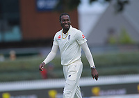England's Jofra Archer during day five of the international cricket 2nd test match between NZ Black Caps and England at Seddon Park in Hamilton, New Zealand on Tuesday, 3 December 2019. Photo: Dave Lintott / lintottphoto.co.nz