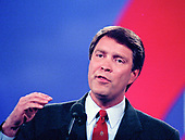 United States Senator Bill Frist (Republican of Tennessee) speaks at the 1996 Republican National Convention at the San Diego Convention Center in San Diego, California on August 13, 1996.  <br /> Credit: Ron Sachs / CNP