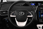 Car pictures of steering wheel view of a 2016 Toyota Prius Comfort 5 Door Hatchback Steering Wheel