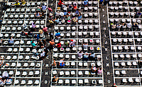BALTIMORE, MD - MAY 19: Fans start to fill reserve seating on Black-Eyed Susan Day at Pimlico Race Course on May 19, 2017 in Baltimore, Maryland.(Photo by Scott Serio/Eclipse Sportswire/Getty Images)