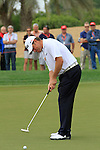 Lee Westwood takes his putt on the 8th green during Day 2 Friday of the Abu Dhabi HSBC Golf Championship, 21st January 2011..(Picture Eoin Clarke/www.golffile.ie)