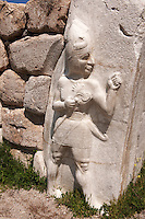 Photo of the Hittite releif sculpture on the Kings gate to the Hittite capital Hattusa 4