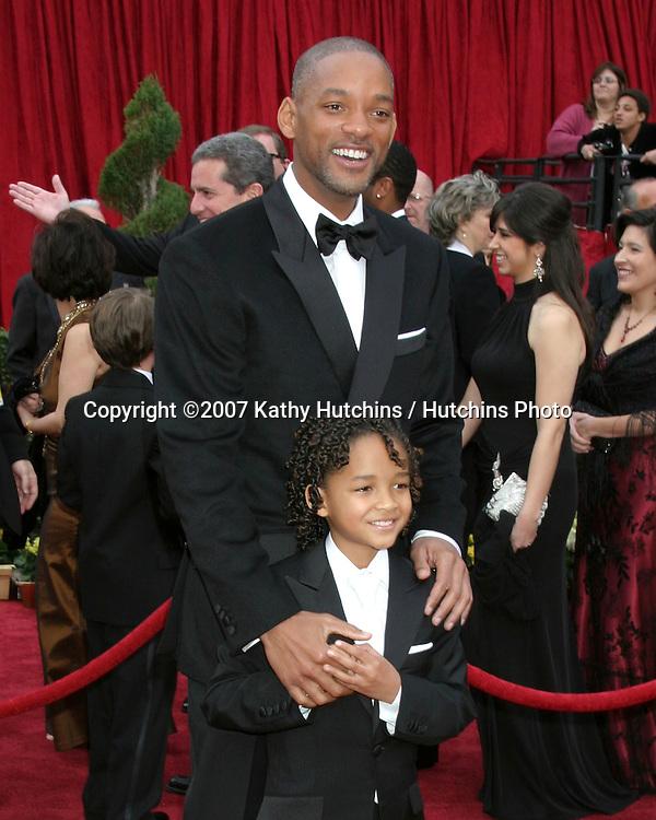 Jaden & Will Smith.79th Annual Academy Awards.Kodak Theater .Hollywood & Highland.Hollywood, CA.February 25, 2007.©2007 Kathy Hutchins / Hutchins Photo....