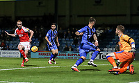 Fleetwood Town's Paddy Madden misses from close range<br /> <br /> Photographer Andrew Kearns/CameraSport<br /> <br /> The EFL Sky Bet League One - Gillingham v Fleetwood Town - Saturday 3rd November 2018 - Priestfield Stadium - Gillingham<br /> <br /> World Copyright © 2018 CameraSport. All rights reserved. 43 Linden Ave. Countesthorpe. Leicester. England. LE8 5PG - Tel: +44 (0) 116 277 4147 - admin@camerasport.com - www.camerasport.com