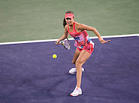 Ana Ivanovic of Serbia in action at the BNP Paribas Open at the Indian Wells Tennis Garden, Indian Wells, California, USA.