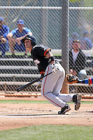 Charlie Culberson, San Francisco Giants minor league spring training..Photo by:  Bill Mitchell/Four Seam Images.