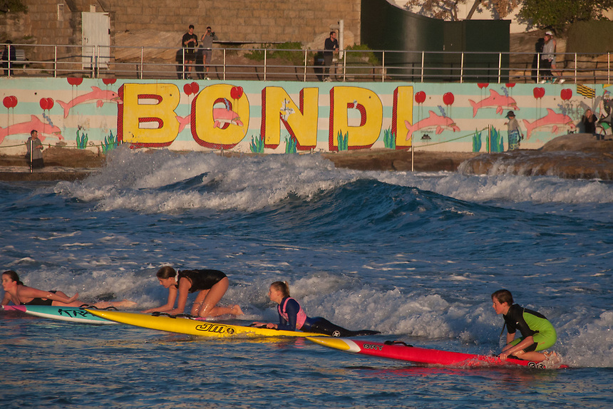 Bondi Surf Life Savers in Training, Bondi Beach, Sydney, New South Wales, Australia