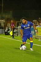 AFC Wimbledon's Andy Barchan on the ball during the Sky Bet League 1 match between AFC Wimbledon and MK Dons at the Cherry Red Records Stadium, Kingston, England on 22 September 2017. Photo by Carlton Myrie / PRiME Media Images.