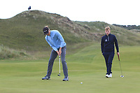 Alexandre Fuchs (FRA) on the 4th green during Round 1 of the The Amateur Championship 2019 at The Island Golf Club, Co. Dublin on Monday 17th June 2019.<br /> Picture:  Thos Caffrey / Golffile<br /> <br /> All photo usage must carry mandatory copyright credit (© Golffile | Thos Caffrey)