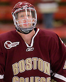 Philip Samuelsson (BC - 5) - The Boston College Eagles defeated the Harvard University Crimson 3-2 on Wednesday, December 9, 2009, at Bright Hockey Center in Cambridge, Massachusetts.
