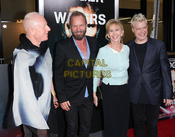 NEW YORK, NY - SEPTEMBER 28: Sting, Trudy Styler, Chris Botti and Bobby Sager at the premiere of Roger Waters The Wall at The Ziegfeld Theater in New York City on September 28, 2015. <br /> CAP/MPI/COR<br /> &copy;COR/MPI/Capital Pictures