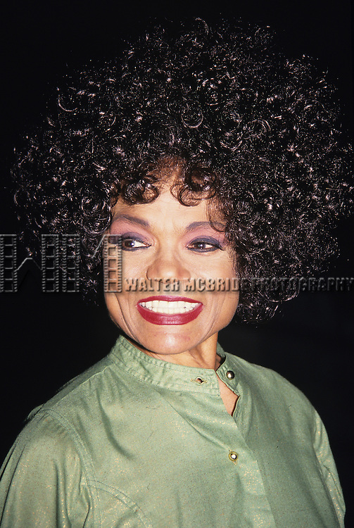 "Eartha Kitt pictured at ""Experience the Divine"" Bee Midler in concert at Radio City Music Hall in New York City on September 14, 1993."