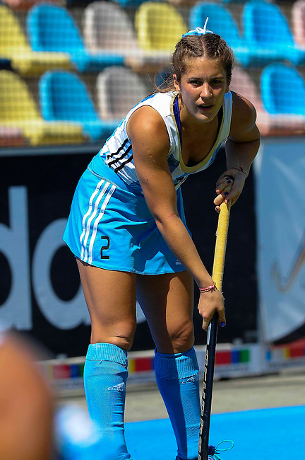 MOENCHENGLADBACH, GERMANY - AUGUST 02: Semi-Final between Argentina (white/blue) and England (red/blue) during the Hockey Junior World Cup at the Warsteiner HockeyPark on August 02, 2013 in Moenchengladbach, Germany. Final score 3-0. (Photo by Dirk Markgraf/www.265-images.com) *** Local caption ***