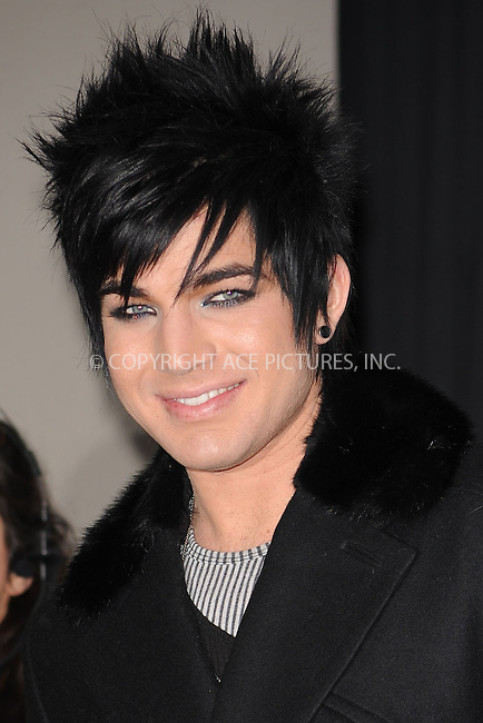 WWW.ACEPIXS.COM . . . . . ....December 11 2009, New York City....Singer Adam Lambert in the press room at  Z100's Jingle Ball 2009 at Madison Square Garden on December 11, 2009 in New York City.....Please byline: KRISTIN CALLAHAN - ACEPIXS.COM.. . . . . . ..Ace Pictures, Inc:  ..(212) 243-8787 or (646) 679 0430..e-mail: picturedesk@acepixs.com..web: http://www.acepixs.com