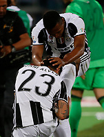 Dani Alves celwith his teammate Alex Sandro  during the  italian cup final soccer match,between Juventus Fc   and SS Lazio     at  the Olympic   stadium in Rome  Italy , May 17, 2017