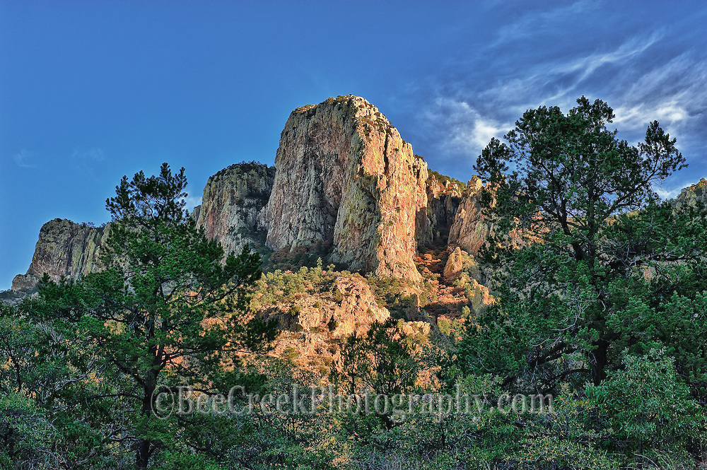 Peak in Green Gulch, on the road to the Chisos Basin Big Bend National Park Texas.