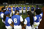 CHAPEL HILL, NC - FEBRUARY 24: Hampton players form a prayer circle before the game. The Hampton University Pirates played the Towson University Tigers on February, 24, 2017, at Anderson Softball Stadium in Chapel Hill, NC in a Division I College Softball match. Towson won 17-2 in a five inning run-rule game.