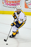 May 31, 2017: Nashville Predators defenseman Roman Josi (59) in game action during game two of the National Hockey League Stanley Cup Finals between the Nashville Predators  and the Pittsburgh Penguins, held at PPG Paints Arena, in Pittsburgh, PA. The Penguins defeat the Predators 4-1 and lead the series 2-0. Eric Canha/CSM