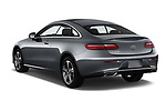 Car pictures of rear three quarter view of a 2018 Mercedes Benz E-Class E400 2 Door Coupe angular rear