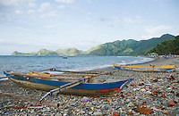 Fishing boats on the beach at Dili, Timor-Leste (East Timor)