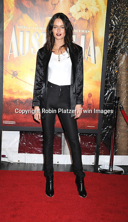 """Nicole Trunfio..posing for photographers at The New York Movie Premiere of """"Australia"""" on November 24, 2008 at The Ziegfeld Theatre. ....Robin Platzer, Twin Images....212-935-0770"""