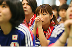 Japan fans (JPN), JUNE 15, 2014 - Football / Soccer : Japanese fans watch the FIFA World Cup Brazil 2014 Group C match between Japan and Cote d'Ivoire at Marunouchi building in Tokyo, Japan. (Photo by AFLO SPORT) [1156]