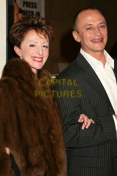 "ERIKA LOTAKOV & RAVIL ISVANOV.Hollywood, California. Atmosphere. Los Angeles Premiere of ""The Good German"" at the Egyptian Theatre, Hollywood, California, USA..December 4th, 2006.half length black brown fur coat .CAP/ADM/BP.©Byron Purvis/AdMedia/Capital Pictures"